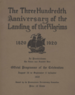 Program from the 300th Anniversary of the Landing