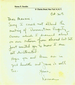 "Note from Norma Starobin to Maurice""Brig"" Brigadier"